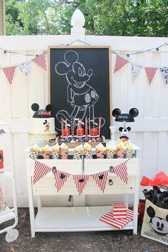 Vintage Mickey Mouse Birthday Party Vintage Mickey Mouse Birthday Party on Kara's Party Ideas Vintage First Birthday, Disneyland Birthday, Mickey 1st Birthdays, Mickey Mouse First Birthday, Vintage Birthday Parties, 1st Boy Birthday, Birthday Ideas, Vintage Party, Mimi Y Mickey