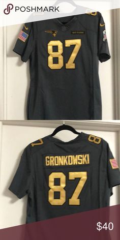 New England Patriots jersey Woman s size - fits 12 14 . Gronk  87 Brand.  Salute To ServiceJersey ... 22a56dd0f