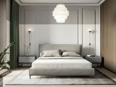 Best Bedroom Hotel Chic Lights Ideas – The best ideas Luxury Bedroom Furniture, Home Bedroom, Modern Bedroom, Master Bedroom, Luxury Bedding, Bedroom Black, Bedroom Ideas, Bedroom Classic, Contemporary Bedroom Furniture