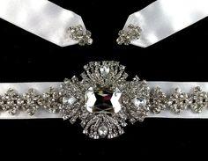 Art Deco 1920s Wedding Gown Sash Belt Bridal Dress by YJDesign, 135.00