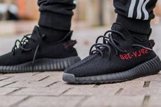 """Here's a Closer Look at the """"Black/Red"""" YEEZY Boost 350 V2"""