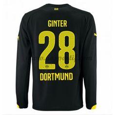 maillot de foot Bundesliga BVB Borussia Dortmund 2016-17 Ginter 28 maillot extérieur manche longue