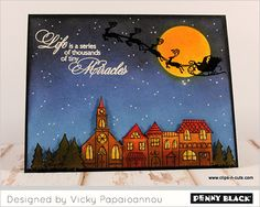 Video Tutorial with Vicky Clips N' Cuts featuring Penny Black Stamps and Dies