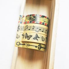 Yellow Washi Tape Set combo Japanese tapeScrapbook by AyakaArts