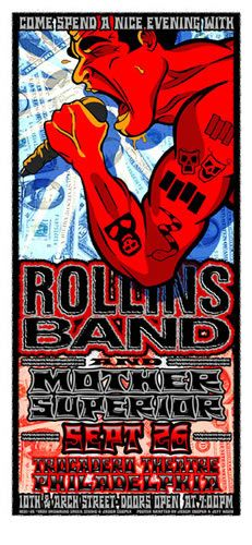 Rollins Band   Mother Superior     Trocadero Theatre   9/26/2001   Artist: Jason Cooper and Jeff Wood - Drowning Creek