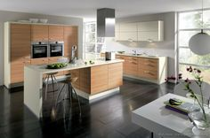 #Kitchen of the Day: Modern Light Wood Kitchens. (By ALNO, AG)