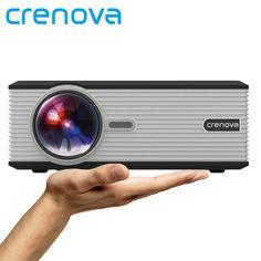 Crenova XPE470 LED Video Projector 1080P Office Projector via USB Drive TV Laptop Smartphone