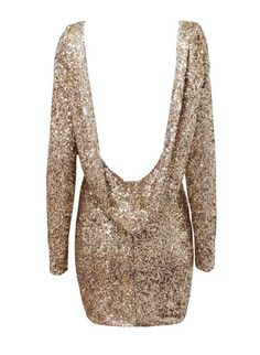"""""""Bare & Shiny"""" Backless Sequin Mini Dress (4 colors available)"""