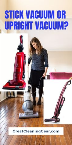 Stick Vacuum or Upright Vacuum? If you're stuck making the choice between a stick vacuum vs upright vacuum, this guide is designed to make buying vacuums simpler, as we compare both types to help you make the perfect choice for your space. Speed Cleaning, Deep Cleaning Tips, Cleaning Hacks, Floor Cleaning, Best Upright Vacuum, Upright Vacuum Cleaner, Vacuum Cleaners, Cordless Vacuum, Handheld Vacuum