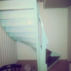 Paint diy mint stairs trapp