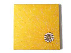 sunny acrylic painting yellow original art von Kreativprodukte Abstract Wall Art, Original Art, My Etsy Shop, The Originals, Yellow, Canvas, Artwork, Painting, Home Decor