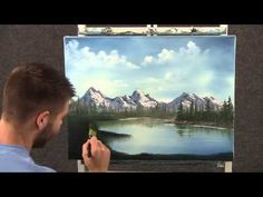 Paint with Kevin Hill - Small House on the Lake wet on wet HD - YouTube