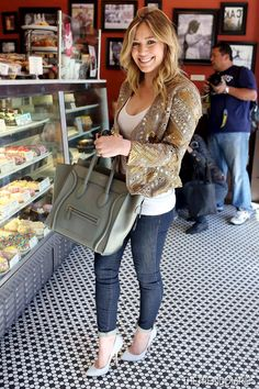 Hilary Duff At Crumbs Bake Shop! Looking good in wedges and jeans. #YoungerTV premieres January 2015 on TV Land. Visit us at #YoungerTV premieres January 2015 on TV Land.