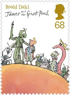 The Royal Mail released this set of stamps to celebrate Roald Dahl. #RoaldDahl #stamp via a cup of jo