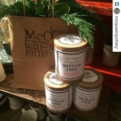 Stop by and see our friends @mcqueenpottery  Got the sweetest gift from @southernfireflycandle this morning! My favorite scent tomato and basil leaf!!! Thank you Heather and Brandon.  Here @madesouth Market @thefactoryatfranklin until 6pm today.  Sold out of our milk white plates but still have speckled and all kinds of platters to set the table for the holidays! #ShopSouthern #holiday #madesouthmarket #setthetable #platters #family #familydinner