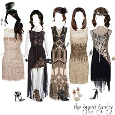 """""""The Great Gatsby"""" Party Dresses by liv4marvel94 on Polyvore featuring polyvore, fashion, style, Zuhair Murad, Gatsby, Adrianna Papell, Rare London, Yves Saint Laurent, Dsquared2 and Betsey Johnson"""