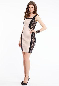 TWO TONE JERSEY SHUTTER PLEAT DRESS #dress #shortdress #chic #camillelavie