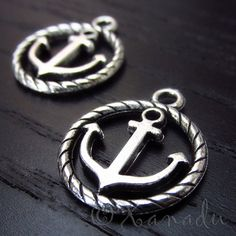 10PCs Anchor Wholesale Silver Plated Charm Pendant Findings - C1527