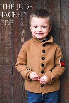 I really love their sewing ideas for boys, not your typical stuff. This wool jacket might* be a recreation from an old target military coat I have. Hooray for upcycling!