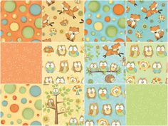 Hoot! Hoot! Hooray! Fat Quarter Bundle - Shelly Cominsky - Henry Glass — Missouri Star Quilt Co.