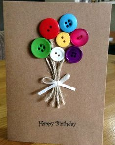 35 button crafts Looking for a some fun craft ideas? How about BUTTONS! They come in so many colors and sizes and you can. Diy Craft Projects, Kids Crafts, Easy Diy Crafts, Craft Ideas, 31 Ideas, Wood Crafts, Paper Crafts, Simple Crafts, Recycled Crafts