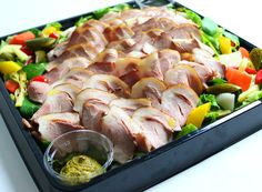 Cobb Salad, Catering, Sushi, Sausage, Meat, Chicken, Ethnic Recipes, Food, Party