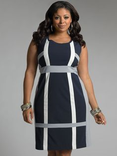 I love the structured style of this dress, it would give the wearer a really good silhouette.