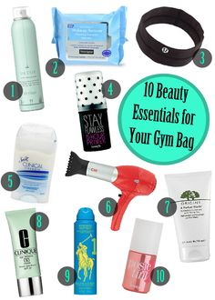 Don't forget to pack these 10 beauty essentials in your gym bag!