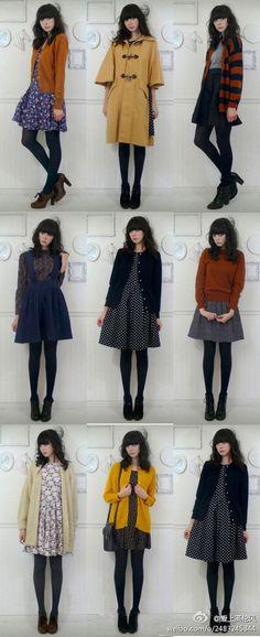 Lovely ideas for transforming summer dresses into fall outfits Podzimní  Oblečení b43d76c317