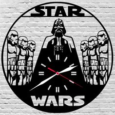 29$ wooden wall clock #Starwars, #woodenwallclock, #gift, #roomdecor by lovelygift4you