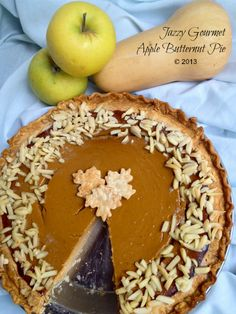 Sweet butternut squash, paired with apple butter and Biscoff Cookie Spread, is topped with buttery almonds to make a wonderful alternative to pumpkin pie. Pie Dessert, Eat Dessert First, Dessert Recipes, Fall Recipes, Holiday Recipes, Yummy Treats, Sweet Treats, Holiday Pies, Family Holiday