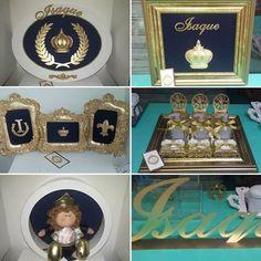 Decoração completa do quarto do príncipe Isaque. Cheguei de maternidade, quadros decorativos, bandeja decorativa,  lembrancinhas de maternidade, nicho redondo decorativo com Príncipe de pelúcia e nome de mdf. Ateliê D'Luxo.  #quarto #quartodebebe #decoracao #decor #bebe #baby #decoracaodebebe #mamae #mae #maedemenino #ateliê #ateliedluxodifusora #ateliedluxo #maternidade