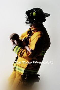 dad and baby pic:) next baby this is happening. Fire fighter and all!