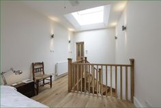 Ashmore Stairs Oak Handrail, Metal Spindles, Banisters, Refurbishment, Staircases, Glass Panels, Landing, Stairs, Study