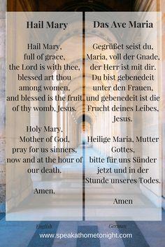 Hail Mary in German | Pray in German | Ave Maria