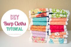 Super Easy (and affordable)  DIY Baby Burp Cloths