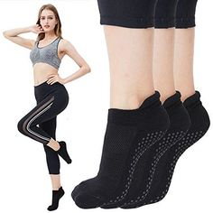 d20b374ec Ad(eBay) Yoga Socks for Women Non Skid Socks with Grips Barre Socks Pilates
