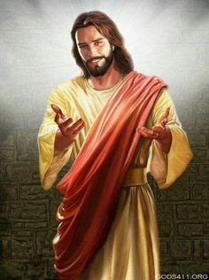 Jesus smiling with hands extended to you. God and Jesus Christ Images Du Christ, Pictures Of Jesus Christ, Religious Pictures, Pictures Of God, Jesus Smiling, Image Jesus, Jesus E Maria, Jesus Painting, Jesus Art