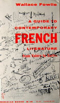 Wallace Fowlie, A Guide to Contemporary French Literature, 1957. Cover by Elaine Lustig.