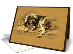 Pet Sympathy Sad Dog Beautiful Illustration, Comfort card (149425)