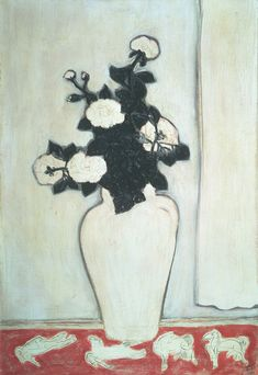 amare-habeo: Sanyu (Chang Yu) (Chinese, 1901-1966) White Peonies and Four Ponies Oil on canvas, 73 x 50 cm