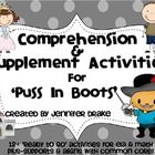 Are you teaching a unit on Puss In Boots and would love a pack of comprehension  supplemental activities that would support a rich  bro...