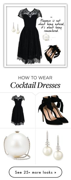 """Elegance"" by mcodyfashionanddesign on Polyvore featuring Pauline Trigère, Gianvito Rossi, Chanel and Belpearl"