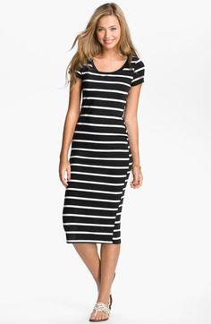 Lush Nautical Stripe Midi Dress (Juniors) | Nordstrom