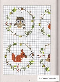 wildlife winter embroidery
