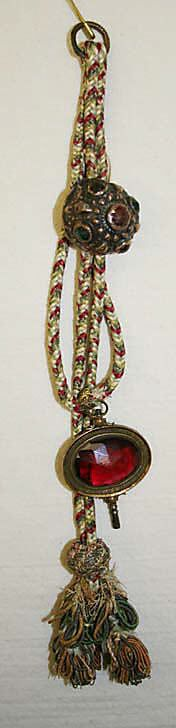 FobDate: 18th century Culture: French Medium: silk, metal thread Dimensions: Length: 8 1/2 in. (21.6 cm) Credit Line: Anonymous Gift, 1924 Accession Number: 24.166.23