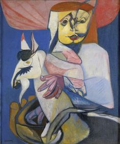 Woman with a Circus Goat Robert Colquhoun British Council Collection Chelsea School Of Art, Glasgow Museum, Goat Art, Max Ernst, Royal College Of Art, Art Uk, Modern Artists, Your Paintings, Figure Painting