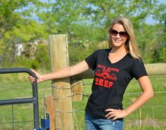 """""""Real women eat BEEF!"""" - You can help support the Montana Beef Ambassador team by ordering one of these cool shirts!"""