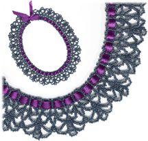 Ribbon Lace Necklace Pattern at Sova-Enterprises.com