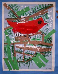 Paintbrush Rocket: First Grade Winter Birds
